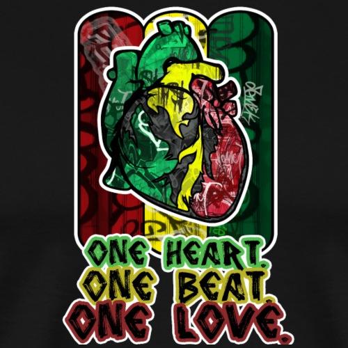ONE HEART ONE BEAT ONE LOVE - Männer Premium T-Shirt