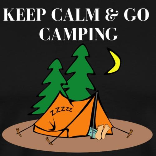 Keep Calm Go Camping - Männer Premium T-Shirt
