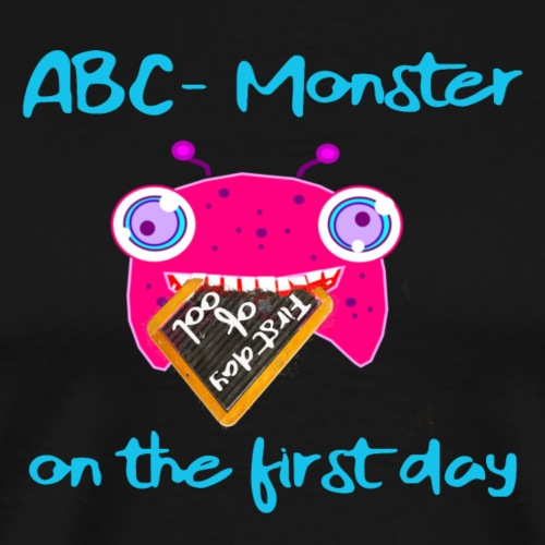 ABC Monster on the first day #blue