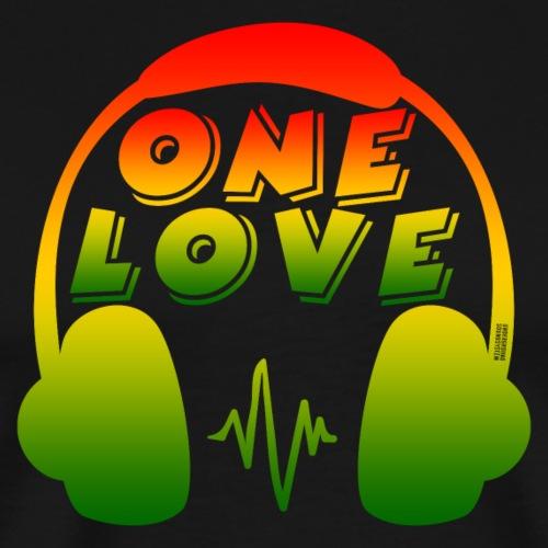 ONE LOVE - HEADPHONES - Männer Premium T-Shirt