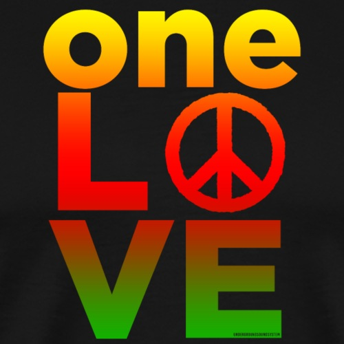 ONE LOVE PEACE ICON - Männer Premium T-Shirt