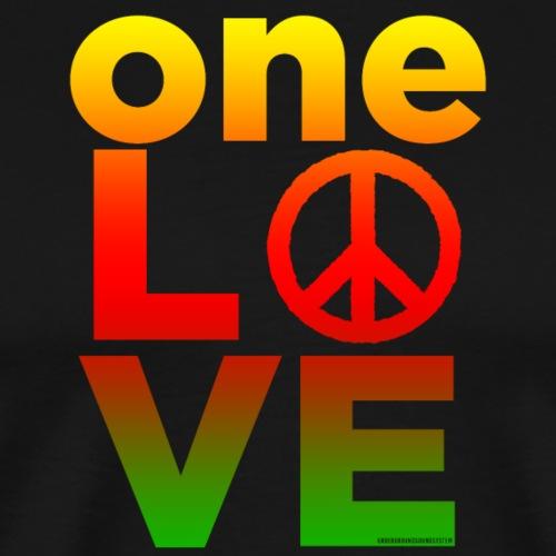 ONE LOVE PEACE ICON - Männer Premium T-Shirt
