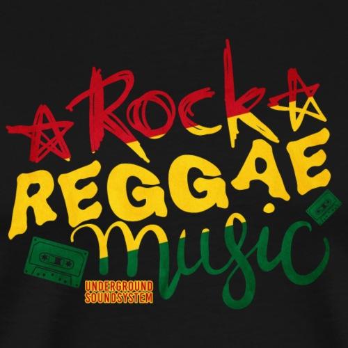 ROCK REGGAE MUSIC - Männer Premium T-Shirt