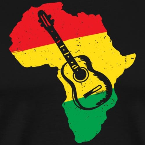 AFRICA GUITAR REGGAE - Männer Premium T-Shirt