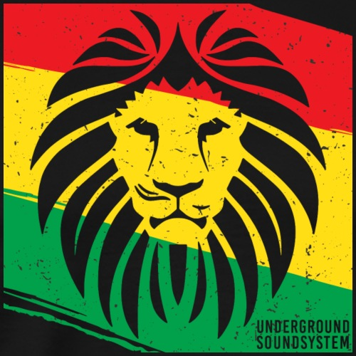 THE LION FACE REGGAE - Männer Premium T-Shirt