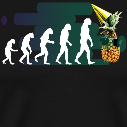 Evolution der coolen Ananas mit schoenen Hintergru - Männer Premium T-Shirt