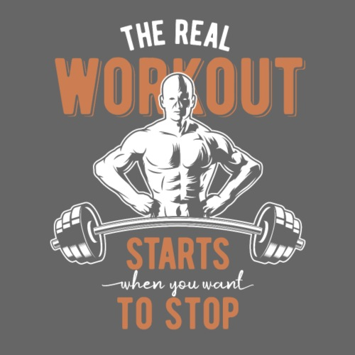 The real Workout - Männer Premium T-Shirt