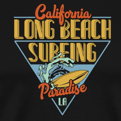 Long Beach Surfing - Männer Premium T-Shirt