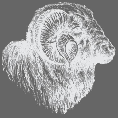 Weisser Schafbock - Männer Premium T-Shirt