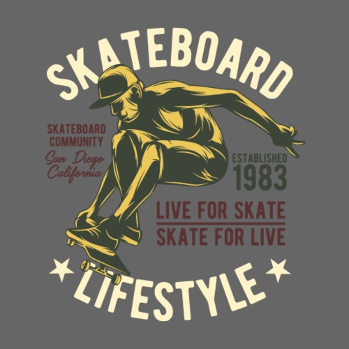 Skateboard Lifestyle - Männer Premium T-Shirt