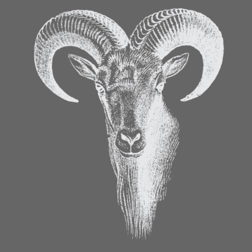 Weisser Widder - Männer Premium T-Shirt