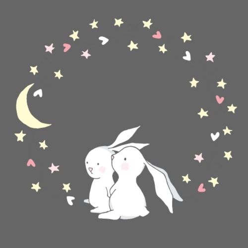 Rabbits at Night - Männer Premium T-Shirt
