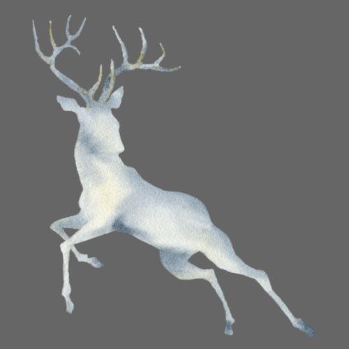 Watercolor Deer jumping - Männer Premium T-Shirt