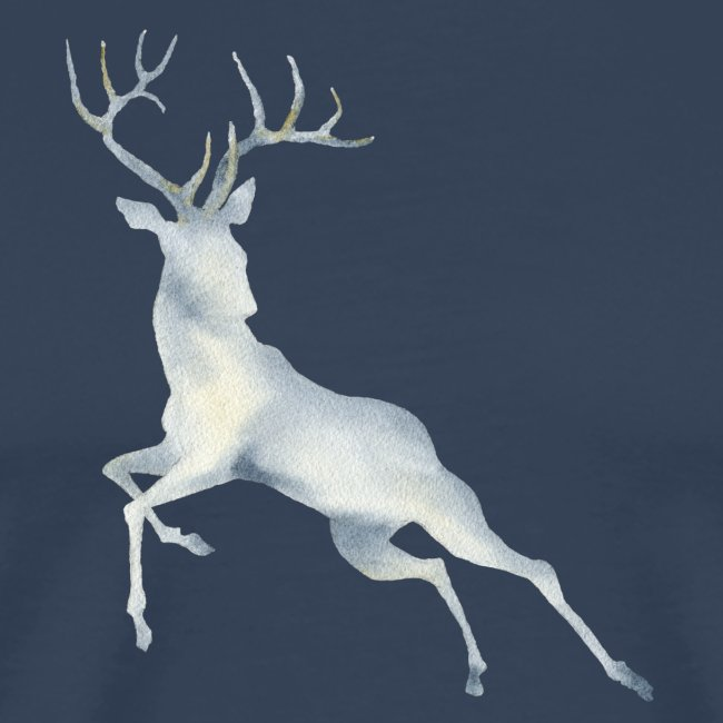 Watercolor Deer jumping