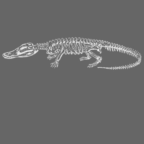 Skelett Krokodil weiss - Männer Premium T-Shirt