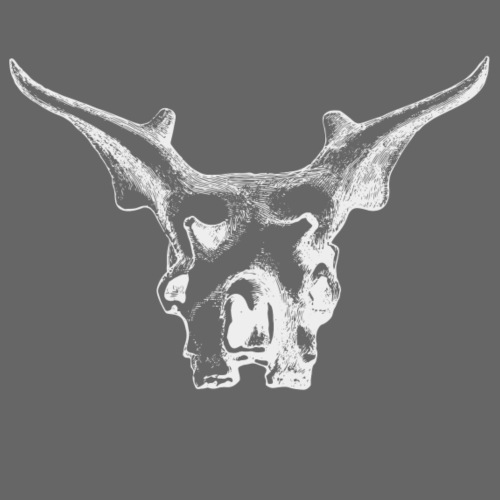 Skull with Horns - Männer Premium T-Shirt