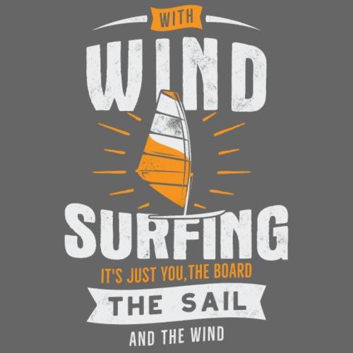 Windsurfing white - Männer Premium T-Shirt