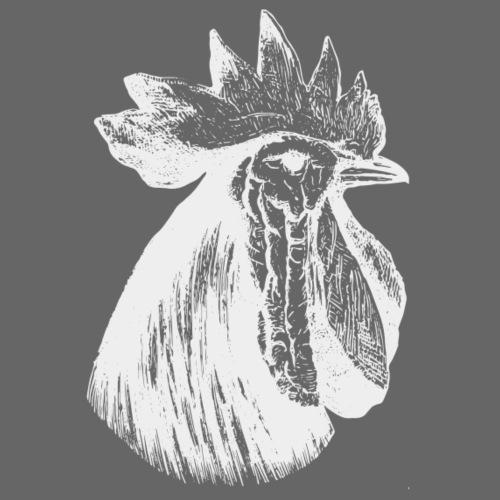 Hahn Kopf weiss - Männer Premium T-Shirt
