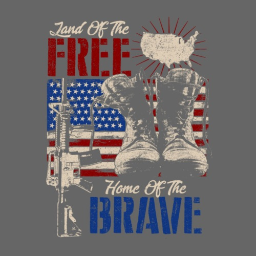 Land of the Free - Home of the Brave - Männer Premium T-Shirt