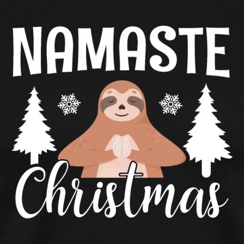 Namaste Christmas Lustig - Männer Premium T-Shirt