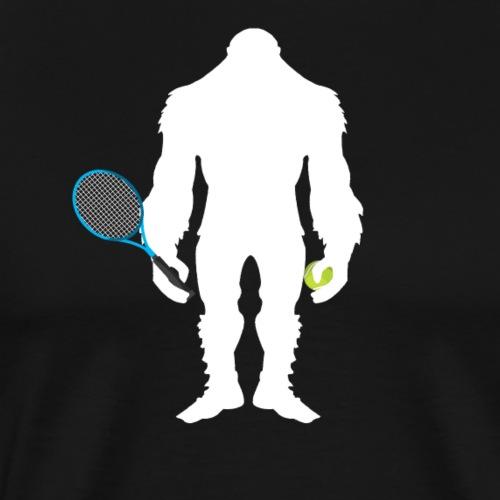 Bigfoot Tennis Player Funny Sasquatch Gift - Männer Premium T-Shirt