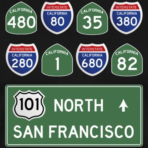 San Francisco Roads - T-shirt Premium Homme