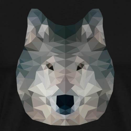 Wolf - Low Poly 2D - Mannen Premium T-shirt