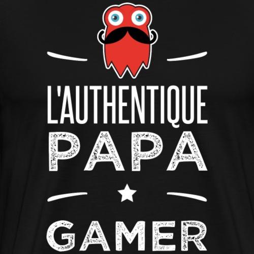 L authentic papa gamer - T-shirt Premium Homme