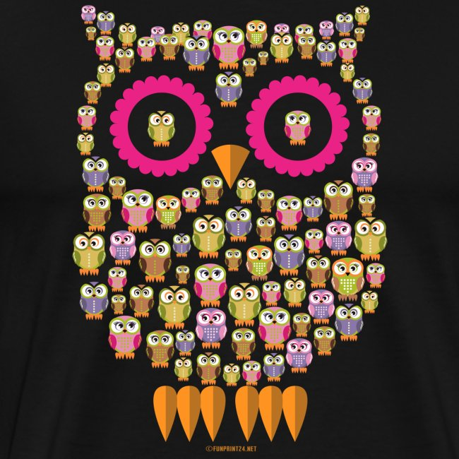 PÖLLÖPERHE OWL FAMILY - Funny textiles and Gifts