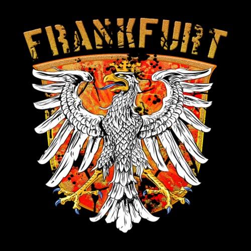 Frankfurt Stadtwappen Adler Design - Gold Edition - Männer Premium T-Shirt