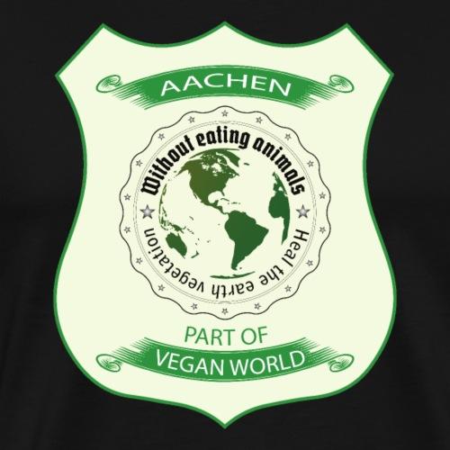 Aachen Vegan World - Männer Premium T-Shirt