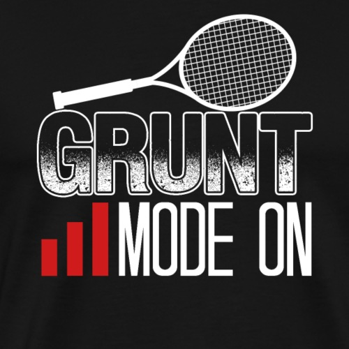 Grund Mode On Tennis Racquet Funny Tennis Player - Männer Premium T-Shirt