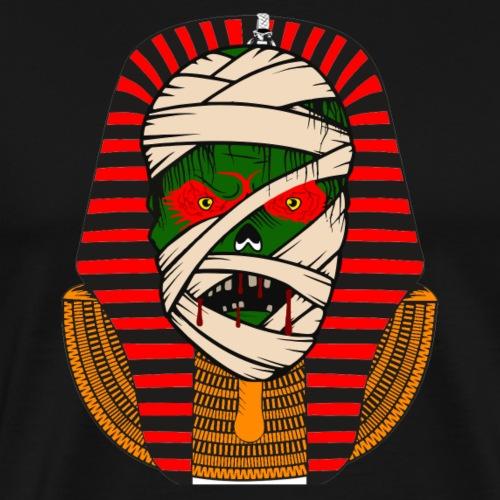 gruseliger Halloween Pharao - Männer Premium T-Shirt
