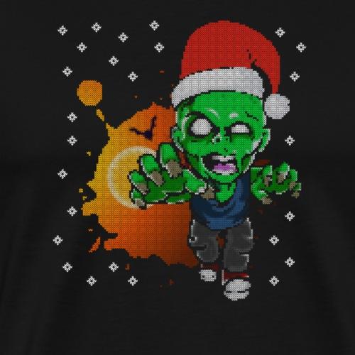 Zombie Weihnachtsmann Dead is Walking - Männer Premium T-Shirt