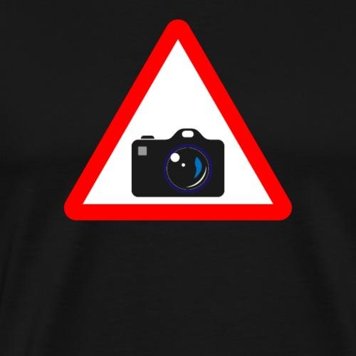 Attention Photographie panneau de circulation Drôle cadeau - T-shirt Premium Homme