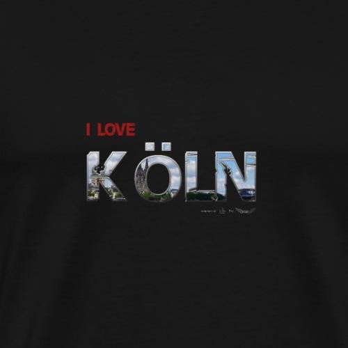 Koeln Schrift LOVE - Männer Premium T-Shirt