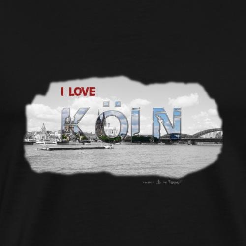 Koeln Schrift LOVE Stadt - Männer Premium T-Shirt