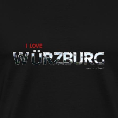 Wuerzburg Schrift DH LOVE - Männer Premium T-Shirt