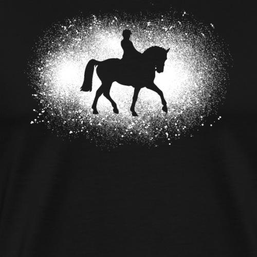 Cadeau de chevaux de dressage grunge en détresse - T-shirt Premium Homme