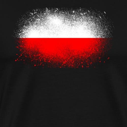 Pologne cadeau de drapeau polonais grunge drôle - T-shirt Premium Homme