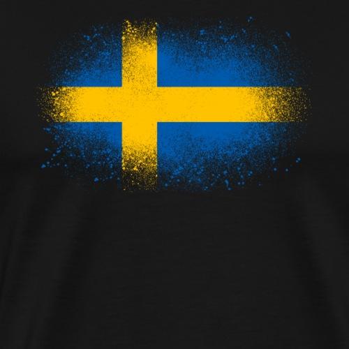 Suède cadeau drôle de drapeau suédois - T-shirt Premium Homme