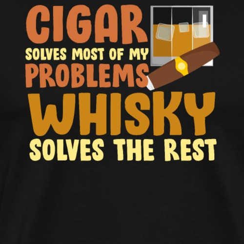 Cigar and whiskey - Men's Premium T-Shirt