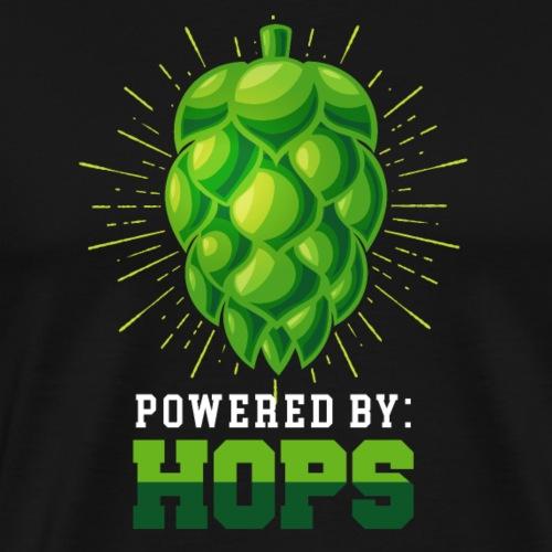 Powered By Hops - Brewers Gift Idea - Men's Premium T-Shirt