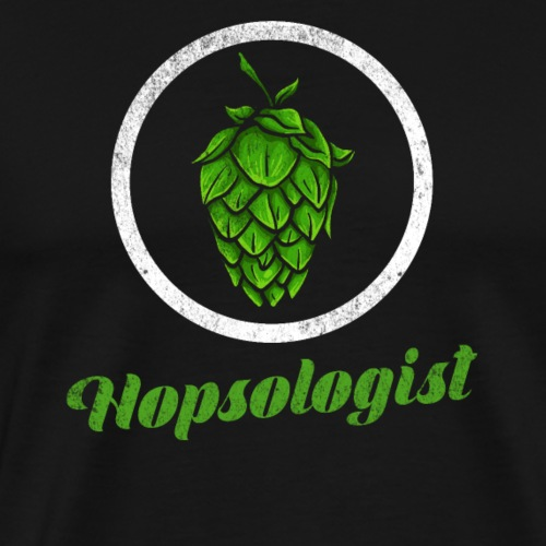 Hopsologist - Hops / Beer Fan - Men's Premium T-Shirt