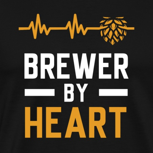 Brewer with heart - Men's Premium T-Shirt