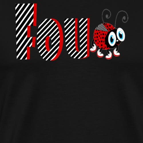 Tifo di regali di t-shirt di famiglia di Coccinella di 4 anni - Maglietta Premium da uomo