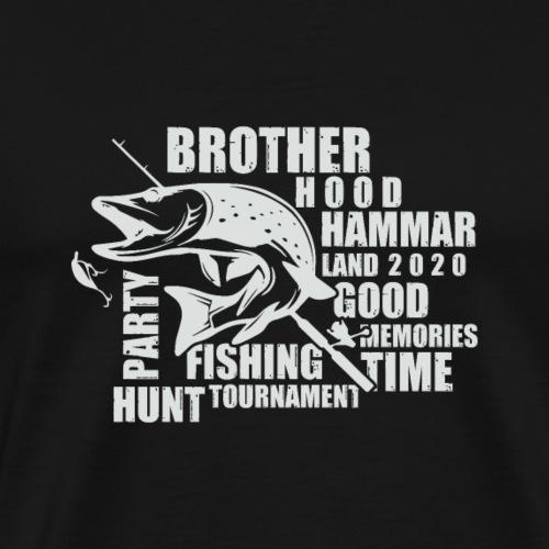 Pikefishing White - Premium-T-shirt herr