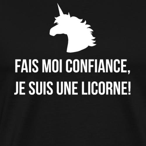 Lustiges Einhorn Spruch Geschenk Französisch Weiss - T-shirt Premium Homme
