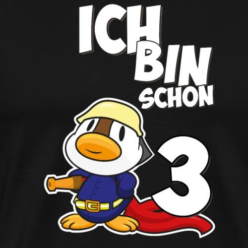Stolze Feuerwehr Ente 3. Geburtstag Jungen Mädchen - Männer Premium T-Shirt