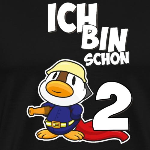 Stolze Feuerwehr Ente 2. Geburtstag Jungen Mädchen - Männer Premium T-Shirt